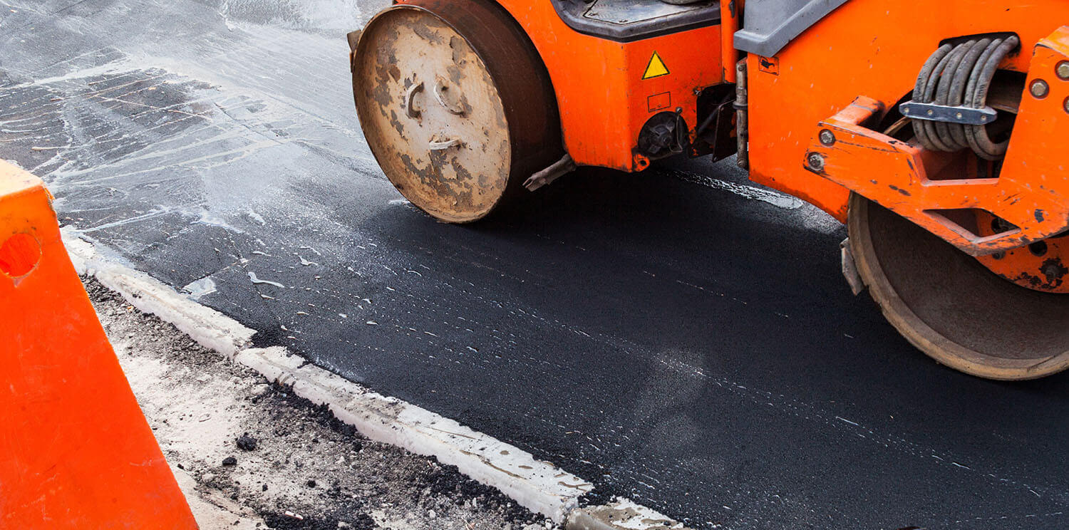 A Commercial Paving Job Site